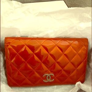 Chanel bi fold long wallet